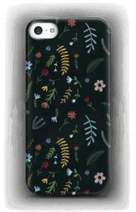 Tummat kukat kuoret IPhone 5/5S