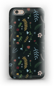 Flowers in the dark case IPhone 6 tough