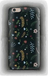 Tummat kukat kuoret IPhone 6 Plus