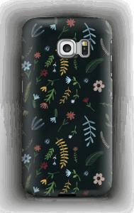 Blomster i mørket  deksel Galaxy S6 Edge