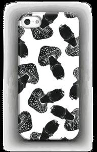 Zwarte paddestoelen hoesje IPhone SE