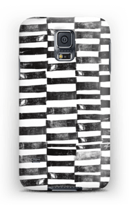 Black Painted Lines case Galaxy S5