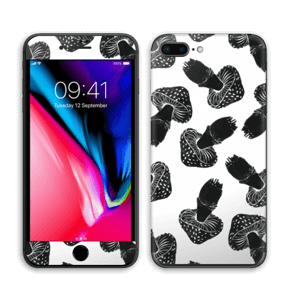 Svarte sopper Skin IPhone 8 Plus