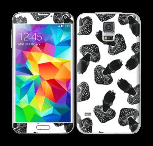 Black Mushrooms Skin Galaxy S5