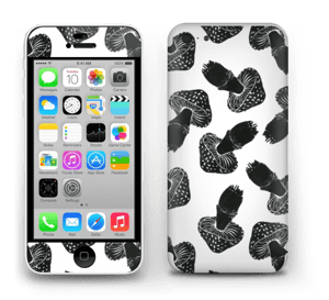 Black Mushrooms Skin IPhone 5c