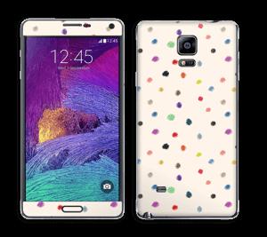 Fargeglade prikker Skin Galaxy Note 4