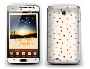 Colorful Dots Skin Galaxy Note