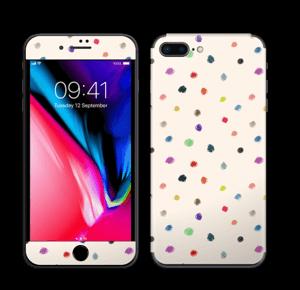 Fargeglade prikker Skin IPhone 8 Plus