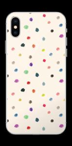 Farverige prikker Skin IPhone X