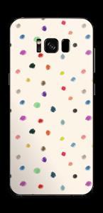 Farverige prikker Skin Galaxy S8 Plus