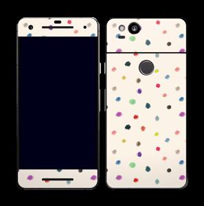 Farverige prikker Skin Pixel 2