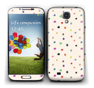 Colorful Dots Skin Galaxy S4