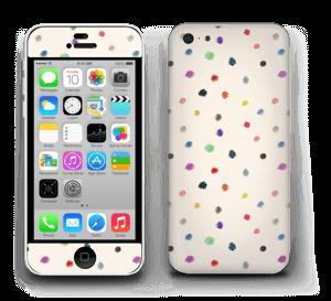 Fargeglade prikker Skin IPhone 5c
