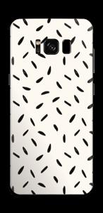 Schwarze Samen Skin Galaxy S8