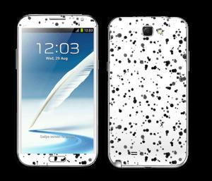 Svart fargesprut Skin Galaxy Note 2
