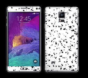Svart fargesprut Skin Galaxy Note 4