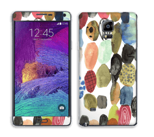 Prikker i vannfarge Skin Galaxy Note 4