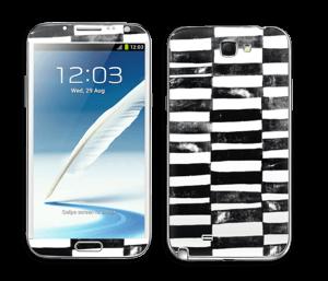 Svarte streker Skin Galaxy Note 2