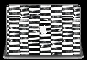"""Svarte streker Skin MacBook Pro Retina 15"""" 2015"""
