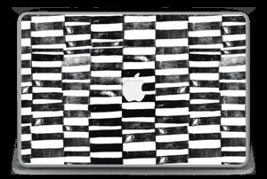"Svarte streker Skin MacBook Pro 15"" -2015"