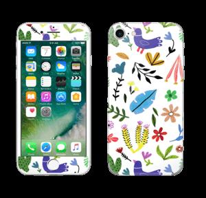 Fugler blant blomster & blader Skin IPhone 7