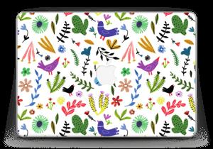 "Fugler blant blomster & blader Skin MacBook Pro Retina 13"" 2015"