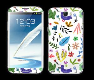 Fugler blant blomster & blader Skin Galaxy Note 2