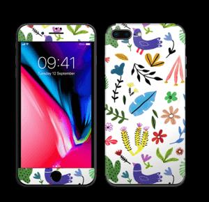 Fugler blant blomster & blader Skin IPhone 8 Plus