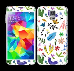 Fugler blant blomster & blader Skin Galaxy S5
