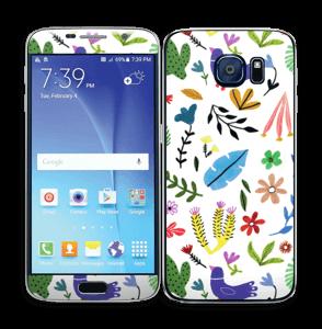 Fugler blant blomster & blader Skin Galaxy S6