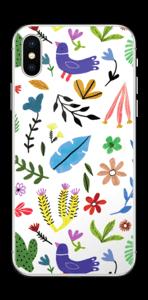 Fugler blant blomster & blader Skin IPhone X