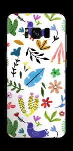 Vögel und Blumen Skin Galaxy S8