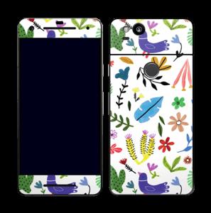 Fugler blant blomster & blader Skin Pixel 2