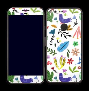 Oiseaux et Fleurs Colorés Skin Pixel XL