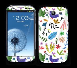 Fugle, blomster og blade Skin Galaxy S3