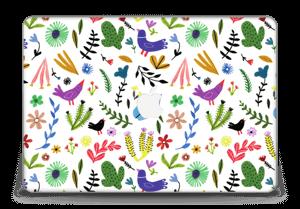 """Oiseaux et Fleurs Colorés Skin MacBook Pro Retina 15"""" 2015"""