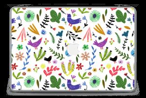 """Fugler blant blomster & blader Skin MacBook Pro 15"""" -2015"""
