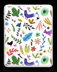 Fugler blant blomster & blader Skin IPad 1