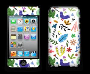 Fugler blant blomster & blader Skin IPod Touch 4th Gen