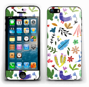 Fugler blant blomster & blader Skin IPhone 5s