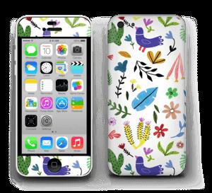 Oiseaux et Fleurs Colorés Skin IPhone 5c