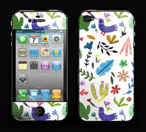 Fugler blant blomster & blader Skin IPhone 4/4s