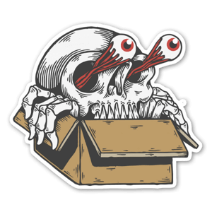 Skull box  sticker