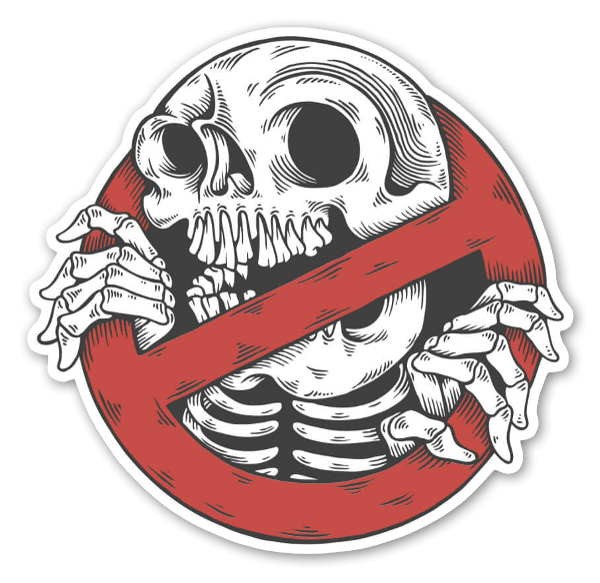 Skullbuster sticker