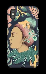 Ragazza pianta cover IPhone X