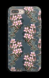 Vaaleanpunaiset kukkaset kuoret IPhone 8 Plus tough