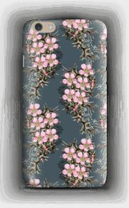 Vaaleanpunaiset kukkaset kuoret IPhone 6 Plus