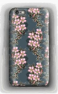 Vaaleanpunaiset kukkaset kuoret IPhone 6 Plus tough