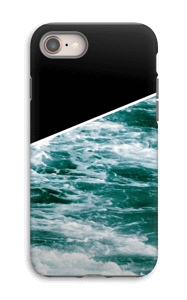 Zwart water hoesje IPhone 8 tough