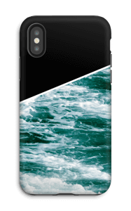 Zwart water hoesje IPhone X tough